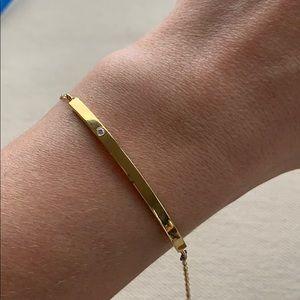 Jennifer Zeuner Bar Bracelet with Diamond